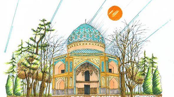 اموزش اسکیس بناهای تاریخی