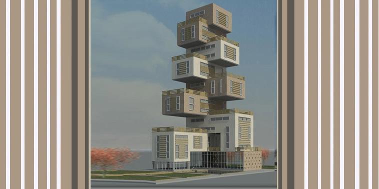 پروژه طرح 5 معماری مجتمع مسکونی 00123