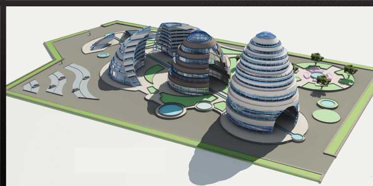 پروژه طرح معماری 5 مجتمع مسکونی 00132