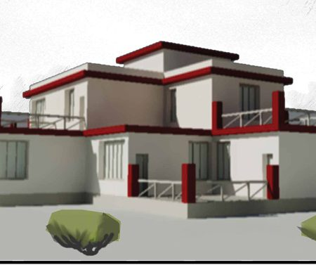 طرح نهایی خانه اقلیم گرم و خشک
