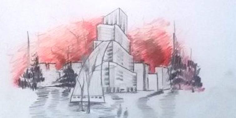 پروژه طرح 5 معماری مجتمع مسکونی 001211