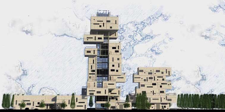 پروژه طرح معماری 5 مجتمع مسکونی 001310
