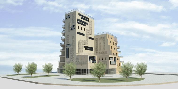 طرح معماری 5 پروژه مجتمع مسکونی 001417