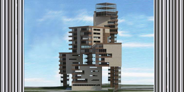 طرح معماری 5 پروژه مجتمع مسکونی 001412