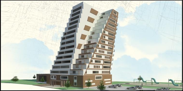 طرح 2 ارشد پروژه برج مسکونی 00157