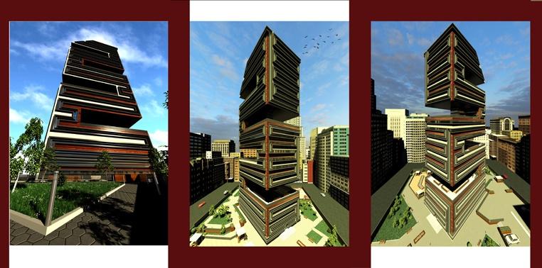 طرح 5 معماری پروژه مجتمع مسکونی 00164