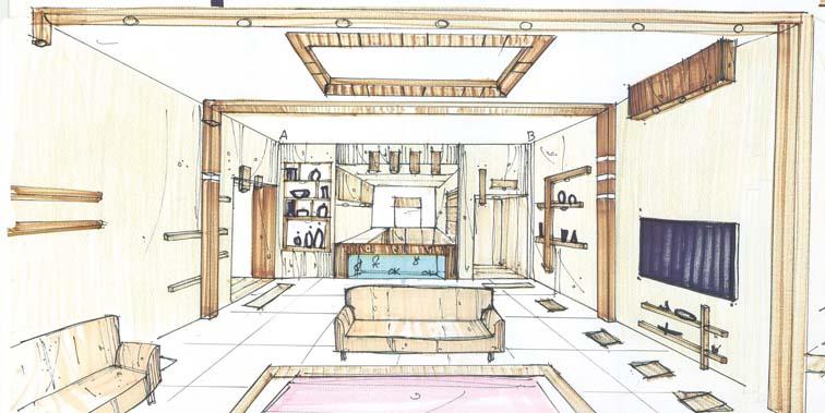 پروژه طرح 3 معماری داخلی اپارتمان