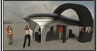 مقدمات طراحی معماری ایستگاه اتوبوس 01210