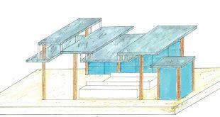 مقدمات طراحی معماری ایستگاه اتوبوس 0124
