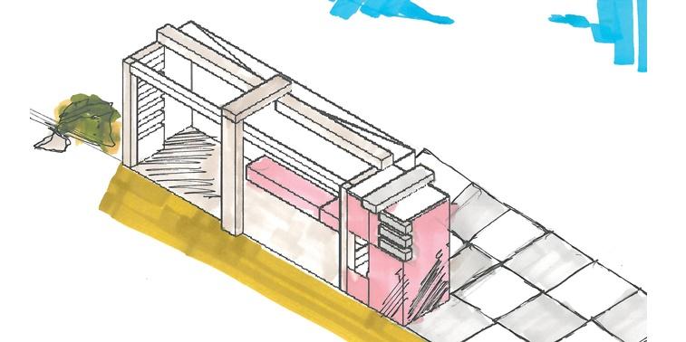 مقدمات طراحی معماری ایستگاه اتوبوس 0125