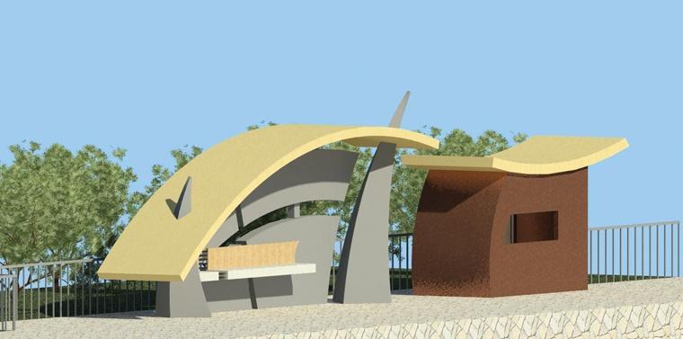 مقدمات طراحی معماری ایستگاه اتوبوس 0129