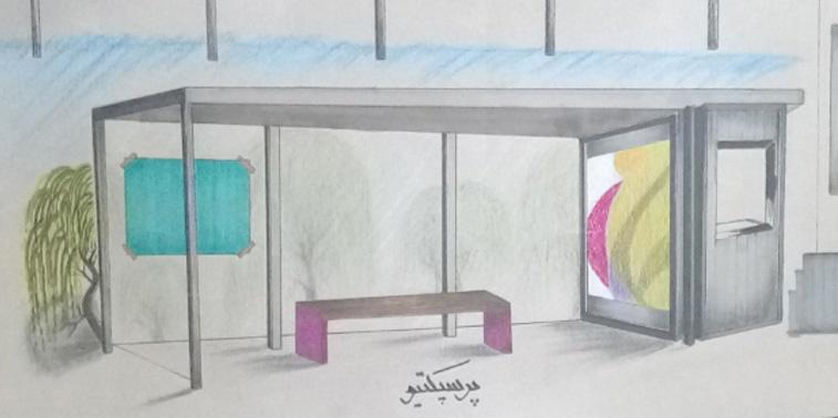 کارگاه مصالح و ساخت ایستگاه اتوبوس 01123