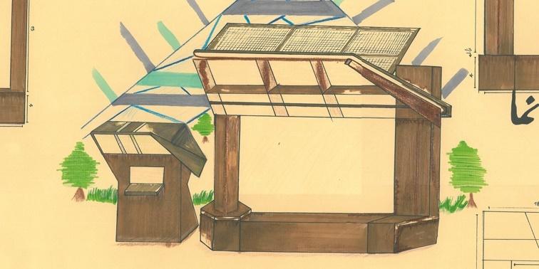 کارگاه مصالح و ساخت ایستگاه اتوبوس 01111