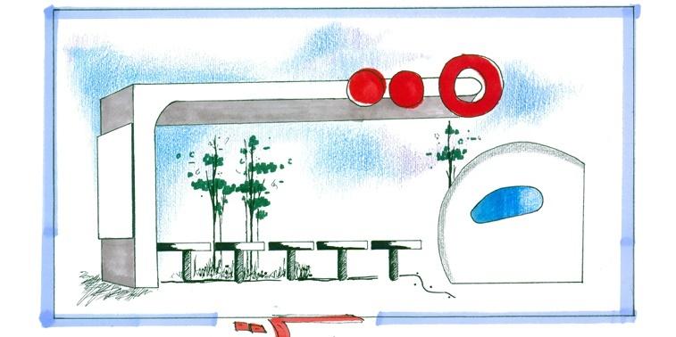 کارگاه مصالح و ساخت ایستگاه اتوبوس 01128