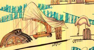 کارگاه مصالح و ساخت ایستگاه اتوبوس0116