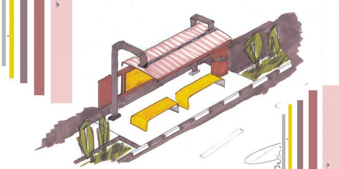 کارگاه مصالح و ساخت ایستگاه اتوبوس 01122