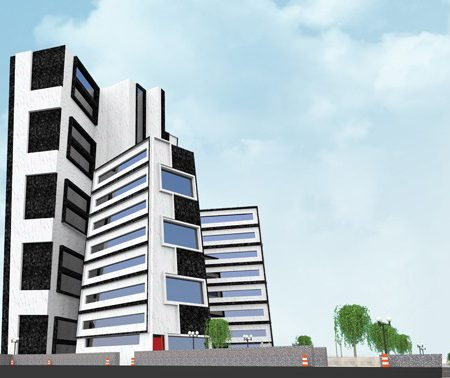 پروژه طرح 5 معماری مجتمع مسکونی 00128