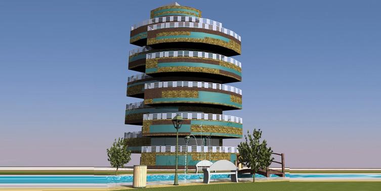 پروژه طرح 5 معماری مجتمع مسکونی 00129