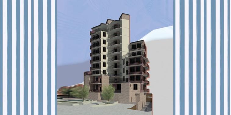 پروژه طرح معماری 5 مجتمع مسکونی 001313