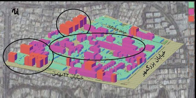 تحلیل فضاهای شهری و مکان یابی منطقه 4