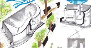 کارگاه مصالح و ساخت ایستگاه اتوبوس