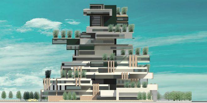 طرح معماری 5 پروژه مجتمع مسکونی 001411