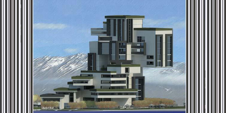 طرح معماری 5 پروژه مجتمع مسکونی 00143