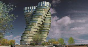 طرح معماری 5 پروژه مجتمع مسکونی 00145
