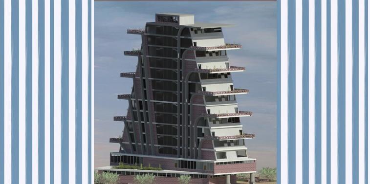طرح معماری 5 پروژه مجتمع مسکونی 00147
