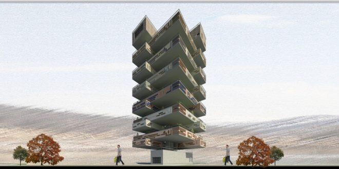 طرح 5 معماری پروژه مجتمع مسکونی 00167