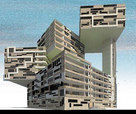 طرح 5 معماری پروژه مجتمع مسکونی 00169
