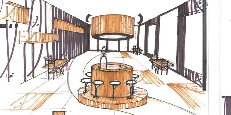 طرح 3 طراحی داخلی اقامتگاه بین راهی