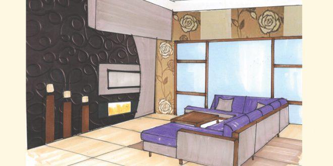 طرح 3 معماری پروژه طراحی داخلی 00567