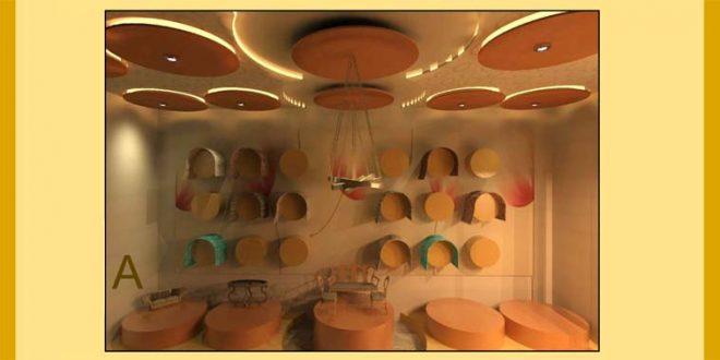 طرح ارشد معماری داخلی فروشگاه مبل و فرش