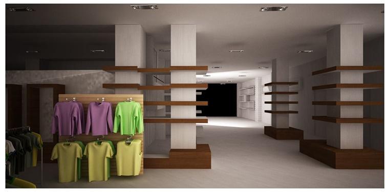 طرح ارشد معماری داخلی فروشگاه دبنهامز