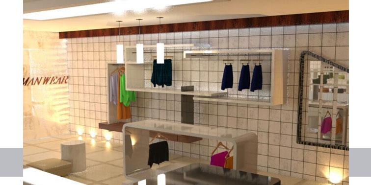 طرح ارشد معماری داخلی فروشگاه پوشاک