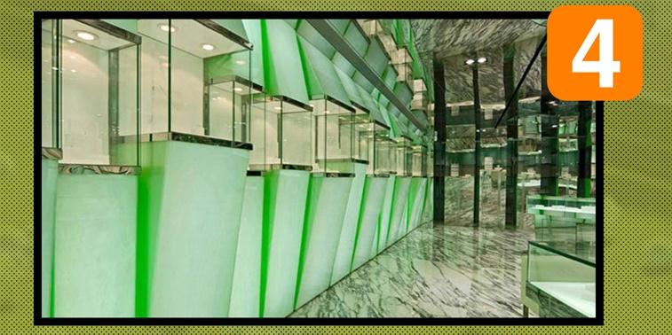 طرح ارشد معماری داخلی فروشگاه جواهرات