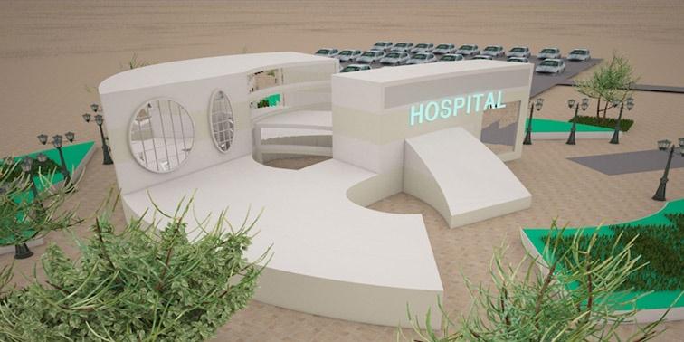 طرح معماری 4 پروژه بیمارستان 006210