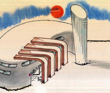 طرح معماری 2 پروژه طراحی پاساژ تجاری 00812