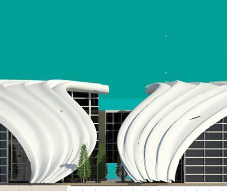 طراحی دانشکده عمران طرح معماری ارشد
