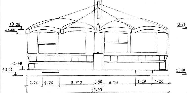 مقدمات طراحی معماری ایستگاه اتوبوس 0126