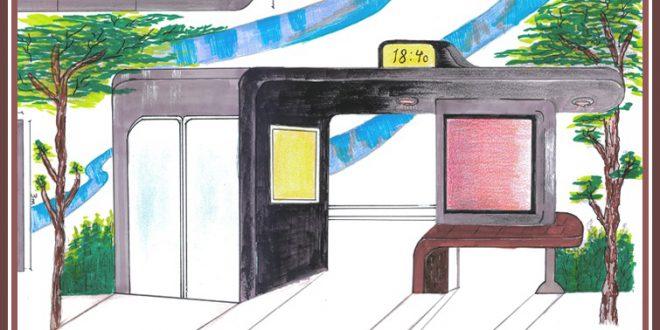 کارگاه مصالح و ساخت ایستگاه اتوبوس 01125