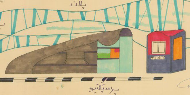 کارگاه مصالح و ساخت ایستگاه اتوبوس 01120